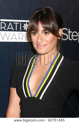 LOS ANGELES - JUN 5:  Lea Michele at the Step Up Women's Network 12th Annual Inspiration Awards at the Beverly Hilton Hotel on June 5, 2015 in Beverly Hills, CA