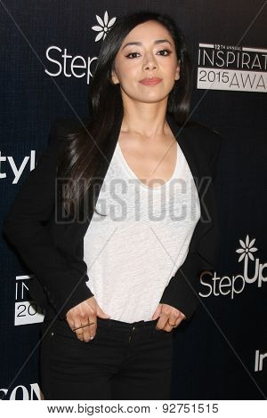 LOS ANGELES - JUN 5:  Aimee Garcia at the Step Up Women's Network 12th Annual Inspiration Awards at the Beverly Hilton Hotel on June 5, 2015 in Beverly Hills, CA