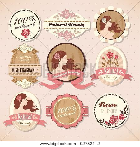 Set Of Beauty Labels