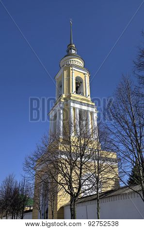 Belfry of Novo Golutvin convent in Kolomna Kremlin. Russia