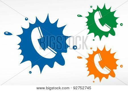 Telephone Receiver Color Blob