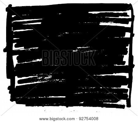 Hand Drawn Grunge Background Rectangle Element
