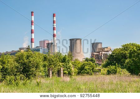 Chimneys Of Coal Power Plant