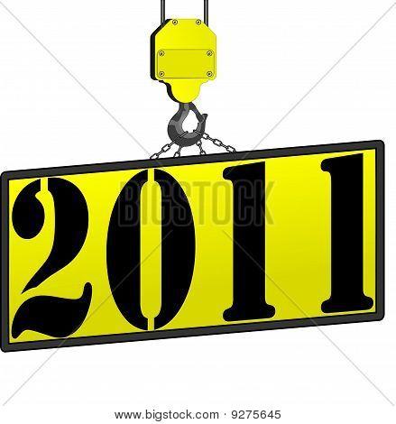 2011 Crane Sign New Years
