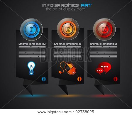 Timeline Infographics layout template for item or ideas classification. Ideal tor printed materials, foded brochures, business illustrations, strategy and marketing proposals and so on.