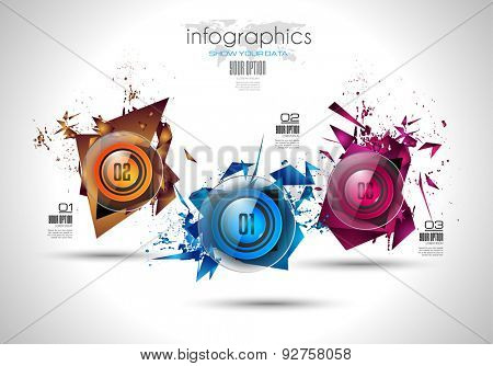 Infographic Abstract template with 4 choices glass buttons with shiny effect. Ideal for marketing and printed material, product classifications, ranking, business solutions, item list etc.