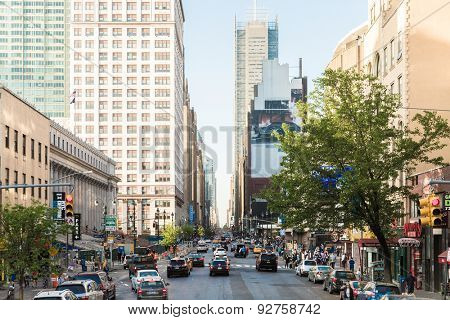 NEW YORK, USA - CIRCA MAY 2015: The busy city of NYC, New York, USA