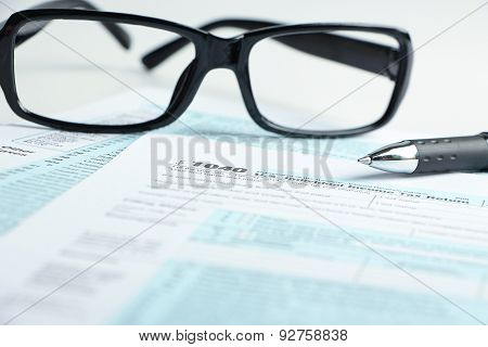 Tax Form Financial Concept