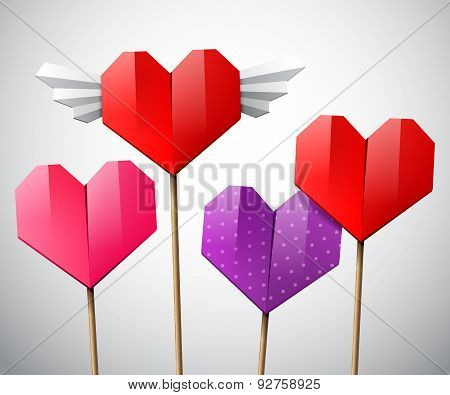 Colorful Set Of Hearts
