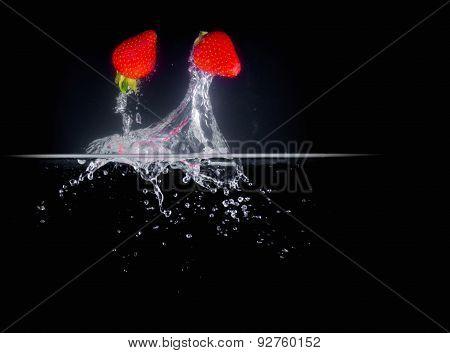 Fruit Splashing Into Water.