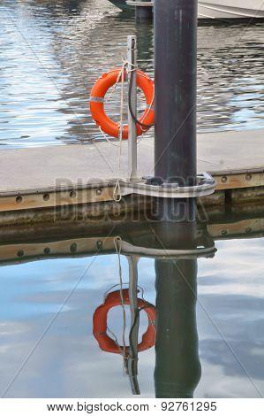 Life Buoy at a dock.