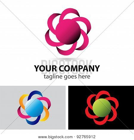 Abstract loop logo element design illustration vector.