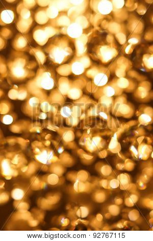 golden bokeh background