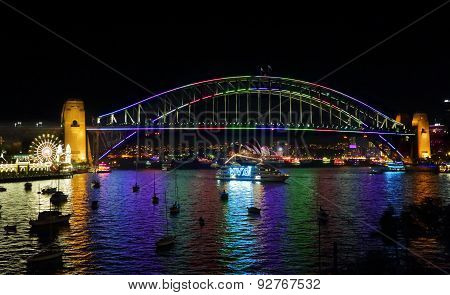Vivid Sydney And Harbour Views From Lavender Bay