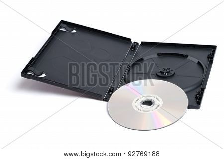 Dvd And Case On White