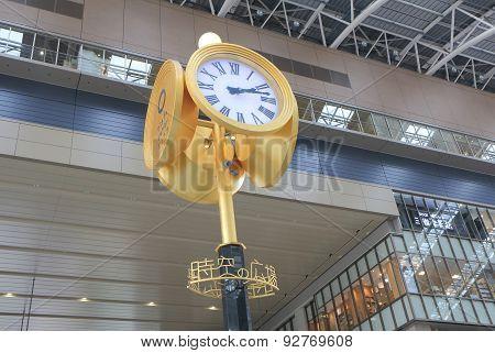 JR Osaka train station clock Japan