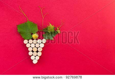Creative Bunch Of Grapes Made Of Cork.useful For Presentation, Bar, Restaurant, Pub, Advertising Bac