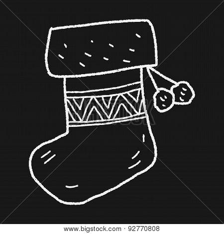 Christmas Socks Doodle Drawing