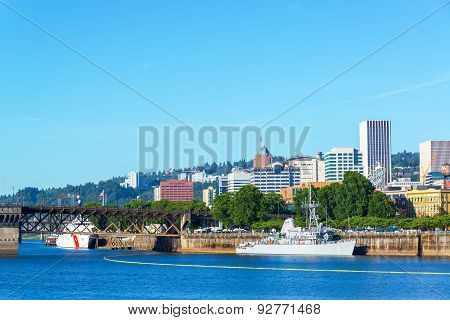 Waterfront And Navy Ships