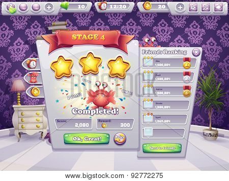 Example Of Completing The Level In A Computer Game Monsters