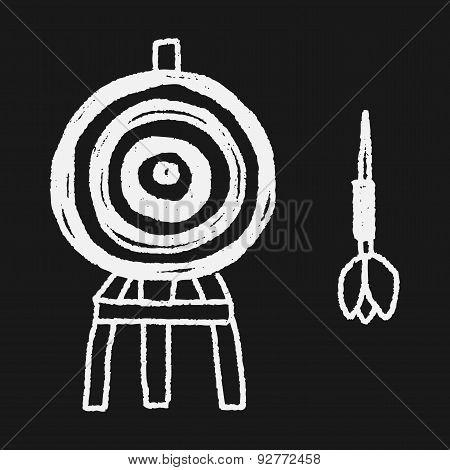 Dart And Target Doodle
