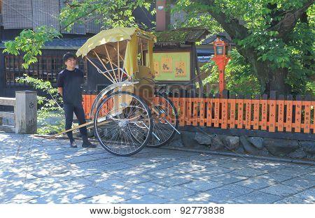 Jinrikisha Kyoto transportation