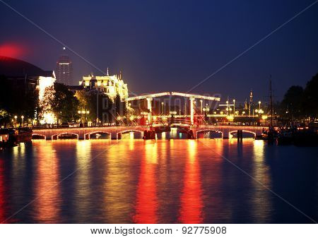 Skinny Bridge, Amsterdam.