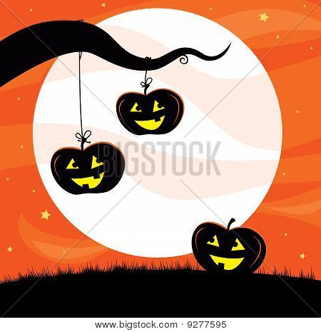 Halloween Jack O'Lantern Tree
