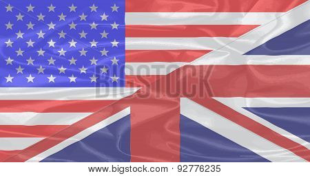 Union Jack And Stars And Stripes