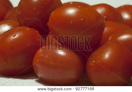 Freshly Rinsed Cherry Tomatoes