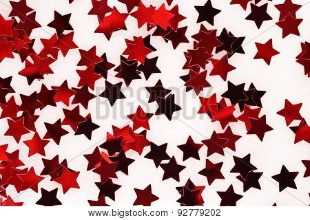 Confetti In The Form Of Red Stars