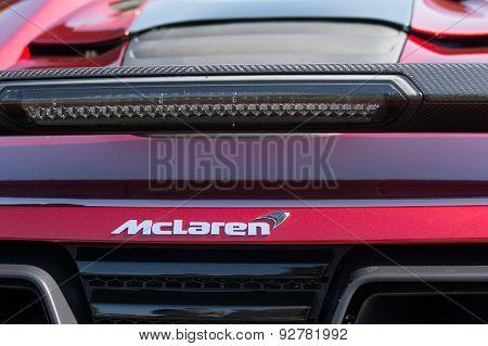 Mclaren Emblem On Display