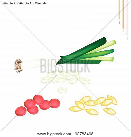 Leek With Vitamin K, A And Minerals