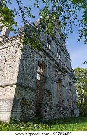Wall Of The Ruined Ungru Manor, Estonia