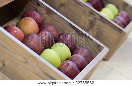 Apples In Wooden Boxes