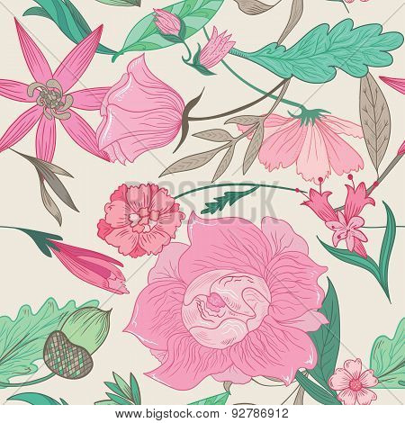 Summer Pattern in Pale Colors