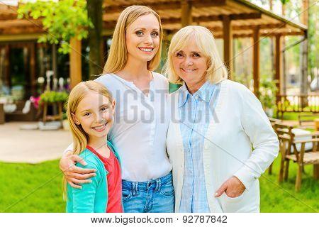 Three Generations Of Happy Women.