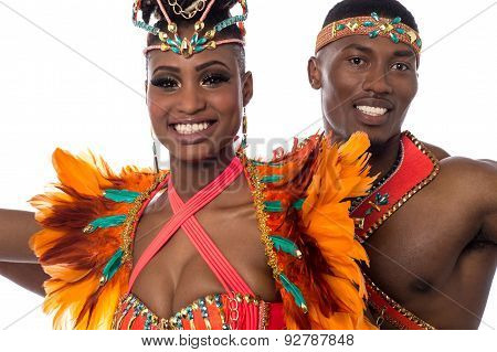 Close Up Of Couple Samba Dancer