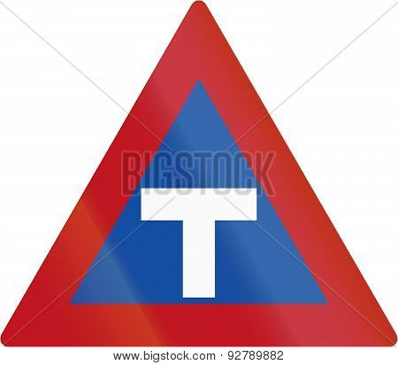 T-intersection In Botswana - Old Design