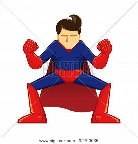 Superhero Crouching