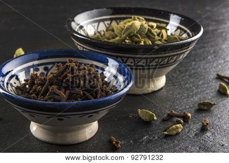 two cups of cardamom and cloves