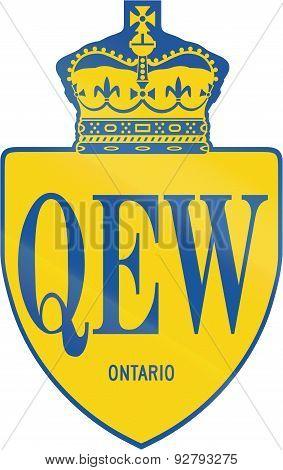 Queen Elisabeth Way In Ontario