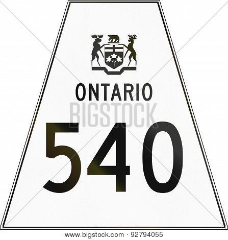 Ontario Highway Shield 540
