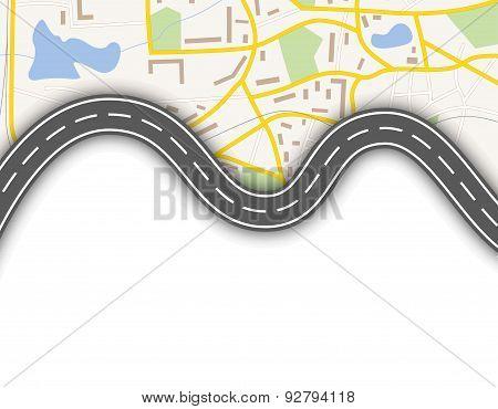 Abstract navigation banner