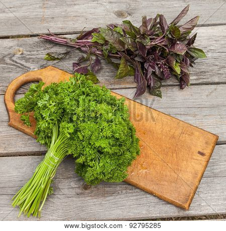 Sheaf Fresh Parsley And Basil