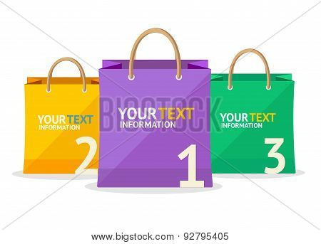 Vector paper bag sale option banner.