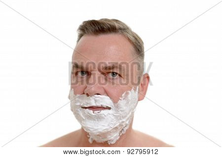 Man Preparing To Shave His Beard