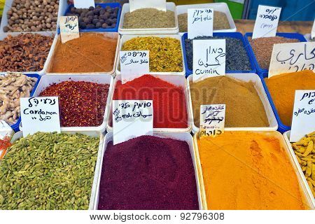 Spices Market In Akko, Israel