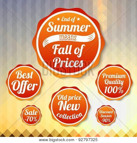 Set of sale business banners, for summer, autumn.  Vector.