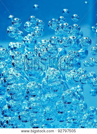 Abstract Blue Bubble